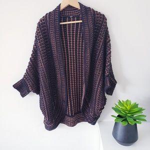 DEX chunky knit open cardigan